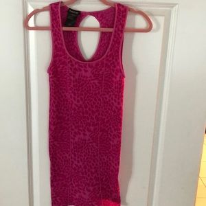 Bebe leopard pink bodycon dress